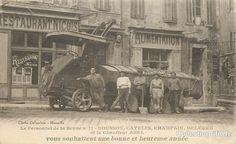 Le Personnel de la Benne n°11 - Rousson, Catelin, Champain, Deleuze et le chauffeur Abel - vous souhaitent une Bonne et Heureuse Année