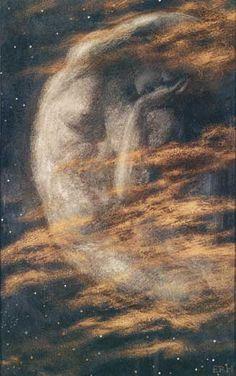 The Weary Moon, Arthur Hughes