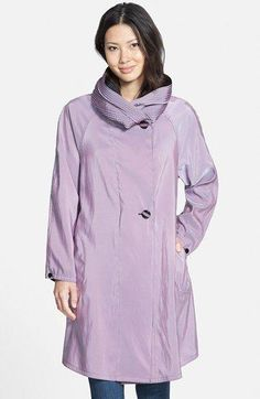 1d152553f99f3 Mycra Pac Designer Wear Reversible Scrunch Neck Travel Coat available at