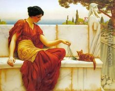 The tease (also known as The favourite) -John William Godward