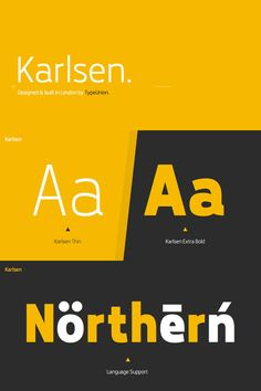 Karlsen font family from TypeUnion.