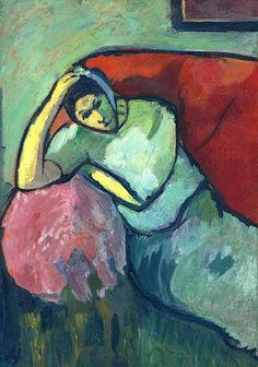 bofransson:  Alexej von Jawlensky - Seated Woman