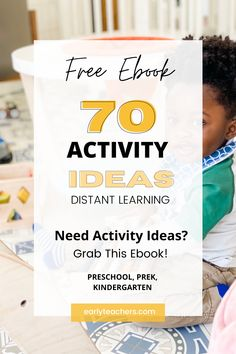 Are you a teachers, or parent looking for activity ideas to do with kiddos?If yes! Then this is the perfect guide for you! 70 activity ideas, with detailed supply list. Toddler Gross Motor Activities, Fun Activities For Toddlers, Pre K Activities, Preschool Learning Activities, Interactive Activities, Life Skills Activities, Bonding Activities, Daycares, Family Bonding
