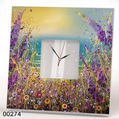 Modern Wall Clock Mirror Flower Field Art Picture Kitchen Room Design Watch Gift #IKEA #Modern