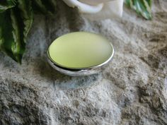 1 Luna Soft Perle 2,7 cm gelb, Soft Touch Oberfläche, Schmuck - Perlen basteln,