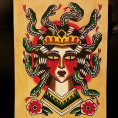 Traditional Medusa painting