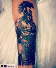Centurión, Roma, Tattoo, Rome, soldier, realismo, tatuaje