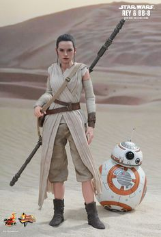 Hot Toys : Star Wars: The Force Awakens - Rey and BB-8 1/6th scale Collectible Set