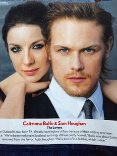 Look who's in @peoplemag! @Heughan and @caitrionambalfe you look fantastic! #Outlander #OnesToWatch