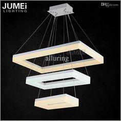 Großhandels Neuester Entwurfs Led Kronleuchter Licht Led Lampe Weiß  Rechteck Acryl Suspension Hängeleuchte Lustre Led Beleuchtung Für