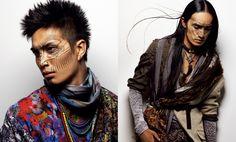Men's Modern Warrior Fashion and Makeup Inspiration