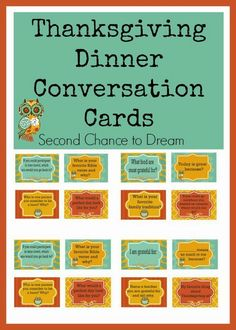 Nice idea for those big Thanksgiving dinners, especially for new family members! Conversation cards. :)