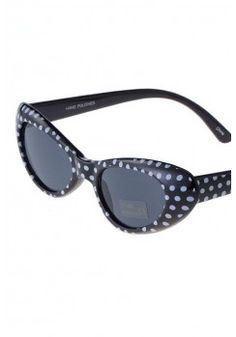 $9.95-POLKA DOT CAT EYE SUNGLASSES-Womens Sunglasses