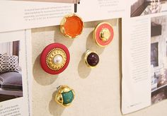 pretty buttons as push pins