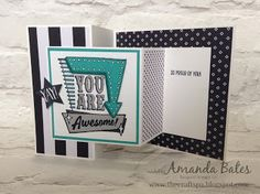 The Craft Spa - Stampin' Up! UK independent demonstrator : You are Awesome Double Z Joy Fold Card