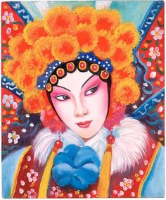 inspiration for Titania's crown Chinese Crafts, Chinese Art, Chinese Opera Mask, Mask Painting, Dragon Boat Festival, Little Rose, Oriental, Chinese Symbols, Chinese Culture