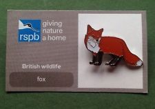 RSPB-British Wildlife FOX Pin Badge.