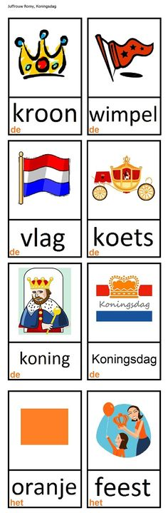 Dutch Language, Kings Day, School Days, Spelling, Vocabulary, Holland, Education, Crowns, Learning