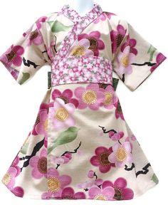 KIMONO DRESS - Spring Sakura- sizes 0 through 10 years - baby girls toddler easter dress  @BabyList Baby Registry Baby Registry Baby Registry
