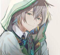 Boy anime/sorrindo