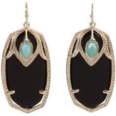 Kendra Scott Darby Earrings in Black with Amazonite