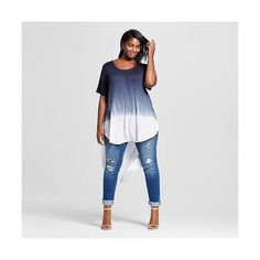 Womens Plus Size High-Low Tee Navy Dip Dye Ava & Viv - Ava and Viv Jeans for women - Ideas of Ava and Viv Jeans for women Plus Size Shirts, Plus Size Tops, Plus Size Women, Boho Fashion, Womens Fashion, Office Fashion Women, Plus Size Outfits, Plus Size Fashion, Clothes For Women