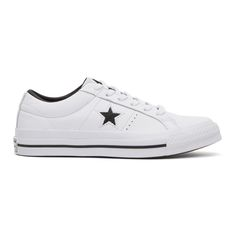 CONVERSE White One Star OX Sneakers. #converse #shoes #