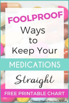 It's hard to stay on track with all of my medicines. Great ideas for foolproof ways to keep my medications straight! Definitely will try these. Practicing Self Love, Medicine Organization, Chronic Illness, Chronic Pain, Fibromyalgia, Coping With Depression, Migraine Relief, Cognitive Behavioral Therapy, Medical Information