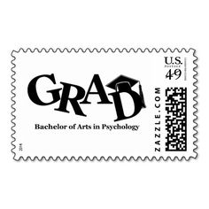 Bachelor of Arts in Psychology GRAD Stamp. This is a fully customizable business card and available on several paper types for your needs. You can upload your own image or use the image as is. Just click this template to get started!
