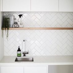 Laundry #timber #herringbone #subwaytiles #white