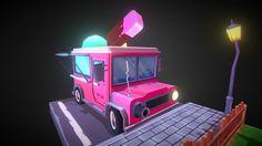 Ice Cream Van by electrocactus Ice Cream Van, Shop Now, Buy Shop, Artwork, 3d, Stuff To Buy, Mesh, Models, Texture
