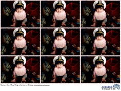 There's one picture in the set that is different...can you spot it?  #braingame  #cutebaby #gonavy