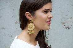 Make dolce and gabbana inspired earrings www.apairandasparediy.com