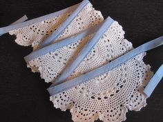 a little indie: Weekend DIY - Crochet Doily Bunting