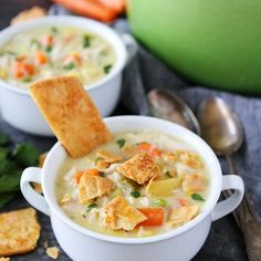 Homemade Chicken Pot Pie {A Classic!} Two Peas & Their Pod Chicken Pot Pie Soup Recipe, Homemade Chicken Pot Pie, Roast Chicken Sandwiches, Tomato Pasta Salad, Food Network Recipes, Soup Recipes, Tasty, Favorite Recipes, Stuffed Peppers