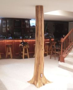 Authentic Cedar Log Basement Pole Covers Support Post Wrap Rustic Lodge Tree New   eBay