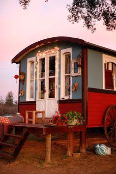 Gypsy Caravan & pink sky~Image © XUZ 2012