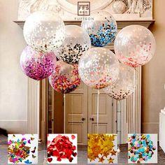 Ucuz Boyutu 36 inç Dev net balon Brithday parti düğün dekorasyon renkli konfeti balon, Satın Kalite Ballons & Aksesuar doğrudan Çin Tedarikçilerden: Boyutu 36 inç Dev net balon Brithday parti düğün dekorasyon renkli konfeti balon