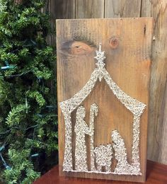 STRING ART - Nativity string art. Unique nativity. Unique christmas gift. Nativity collector gift.