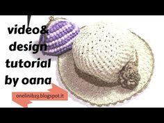 cappellino per bambina all'uncinetto (modello glicine) - YouTube