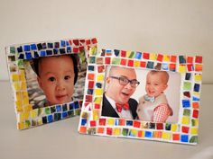 This gift is a lovely way to recycle Styrofoam plates. Pink Stripey Socks shows us how you can turn trash into a beautiful mosaic picture frame; just insert a picture of both siblings together, and you're done! Check out our post on 10 Awesome personalized gifts like these to make for boys