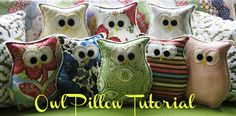 burlap owls | Button Bird Designs is sharing 9 amazing tutorials to get a head start ...
