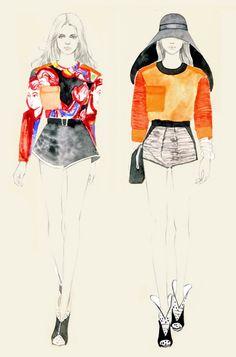 Teri Chung fashion illustrations x