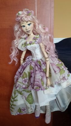 Peach Flower- beautiful handmade bjd doll in the colours of spring