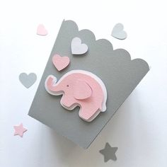 Excited to share the latest addition to my shop: Elephant Pink Gray Favor Paper Boxes Girl Baby Shower 1 st Birthday Party Decor Popcorn Candy Boxes Elephant Theme Baby Decor Its a Girl Pink Elephant Party, Elephant Birthday, Elephant Theme, Grey Elephant, Baby Birthday Decorations, 1 Year Birthday Party Ideas, Birthday Parties, Girl Birthday, Candy Bar Decoracion