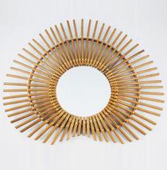 Miroirs rotin lerotindanslad co miroir bambou soleil for Miroir rond bambou