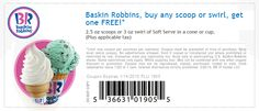 Pinned January 1st: Second ice cream free at #Baskin Robbins #coupon via The #Coupons App