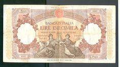 ITALY - ITALIA , 10 000 Lire 24-3-1962 VG/F , REPUBBLICHE MARINARE - DANTE  http://cgi.ebay.com/ws/eBayISAPI.dll?ViewItem&item=161120730864