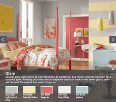 Sherwin Williams Glam Teen Color M My living/dining pallet..... Starting by painting a nice mix of cottage style Vintage chairs  the blue color wich is called WATERY by S.W. D