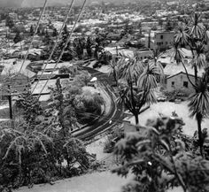 A veritable wonderland greeted residents of Glendale early January 11, 1949, when they looked out windows and wondered what happened. This beautiful sight of a portion of the city, cloaked in a mantle of snow, was taken from Arcadia Hills. Snow In La, Vintage California, Glendale California, Southern California, San Fernando Valley, Living In La, Photo B, Downtown Los Angeles, Photographic Prints